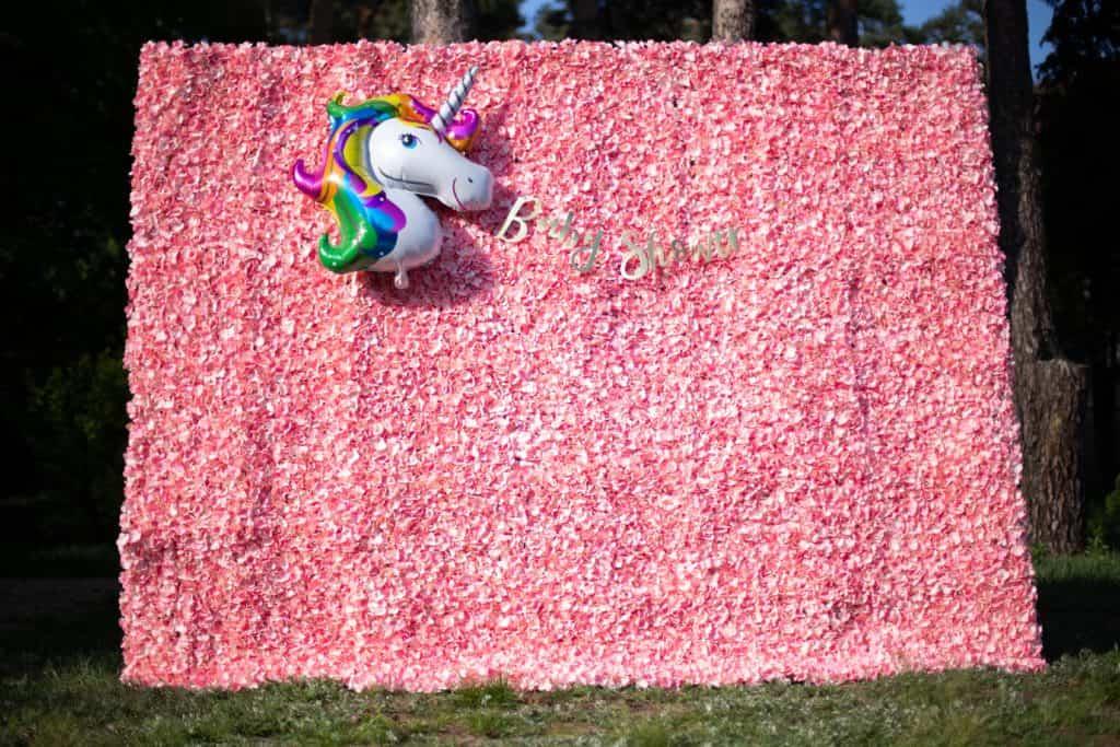 ścianka kwiatowa hortensja