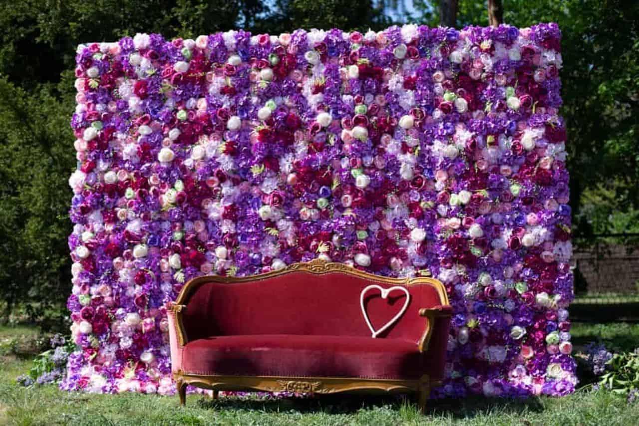ścianka kwiatowa, flower wall. backdrop,